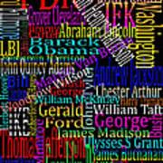 Graphic Presidents Art Print