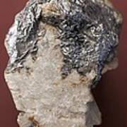 Graphite On Calcite Crystals Art Print