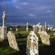 Graveyard, Clonmacnoise, County Offaly Art Print