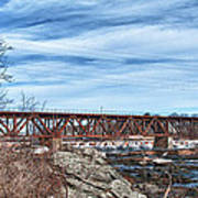 Great Falls Rr Bridge 10477c Art Print