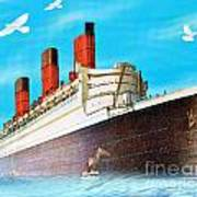 Great Ocean Liner Art Print