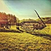 Great Photo Of Some Old #farm Tools Art Print