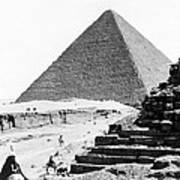 Great Pyramid Of Giza - Egypt - C 1926 Art Print