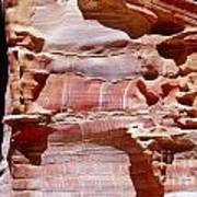 Great Wall Of Petra Jordan Art Print