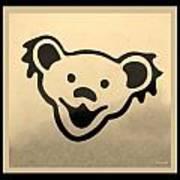 Greatful Dead Dancing Bears In Sepia Art Print