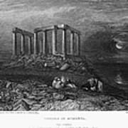 Greece: Cape Sounion, 1832 Art Print