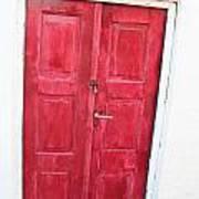 Greek Door Art Print
