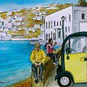 Greek Island Of Mykonis Art Print
