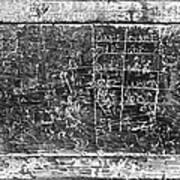 Greek Multiplication Table Art Print