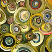Green Abstract Feeling Art Print