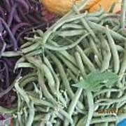 Green And Purple Beans Art Print