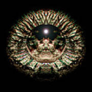 Green Eye Sphere Art Print