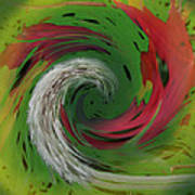 Green Funnel Art Print