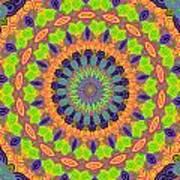 Green Kalidescope Art Print