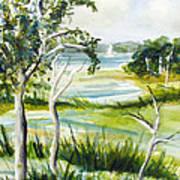 Green Land Art Print