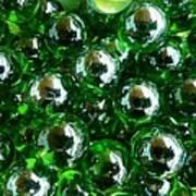 Green Marbles Art Print
