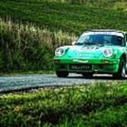 Green Porsche Art Print