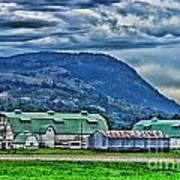 Green Roofed Barn-hdr Art Print