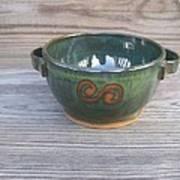 Green Soup Bowl Art Print