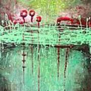 Green Splashes Art Print