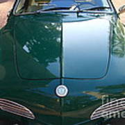 Green Volkswagon Karmann Ghia . 7d10088 Art Print