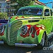Green With Flames Hdr Art Print