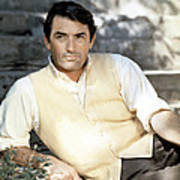 Gregory Peck, Ca. Late 1950s Art Print
