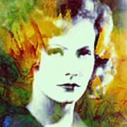 Greta Garbo Abstract Pop Art Art Print