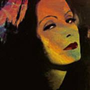 Greta Garbo Pop Art Art Print