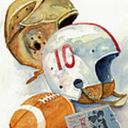 Gridiron Ghosts Art Print