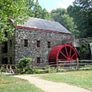 Grist Mill  Massachusetts Print by Patricia Urato