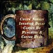 Gritty Chuck Norris 2 Art Print