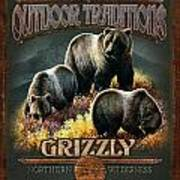 Grizzly Traditions Art Print by JQ Licensing