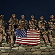 Group Photo Of U.s. Marines Art Print