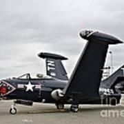 Grumman F9f-5p Panther Art Print