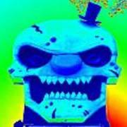 Grunge City Demon 1 Art Print