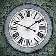Grungy Clock Art Print