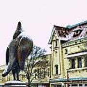 Guard Pigeon And Liberty Theater Art Print