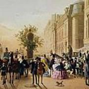 Guerard: Cafe Tortoni, 1856 Art Print