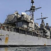 Guided Missile Cruiser Uss Bunker Hill Art Print