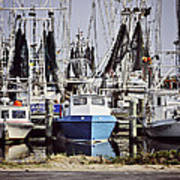 Gulf Boats Art Print