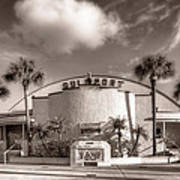 Gulfport Casino In Sepia Art Print