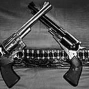 Guns In Black And White Art Print