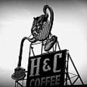 H And C Coffee Art Print