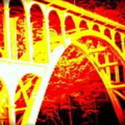 Haceta Head Bridge In Abstract Art Print