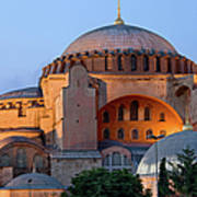 Hagia Sophia At Dusk Art Print by Artur Bogacki
