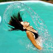 Hair Fling Art Print
