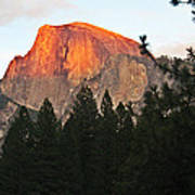 Half Dome Alpenglow Art Print