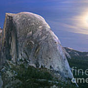 Half Dome Moon Rise Art Print