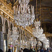 Hall Of Mirrors At Palace Of Versailles France Art Print